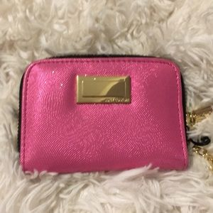 NEW Juicy Couture Pink Wallet Wristlet Cardholder